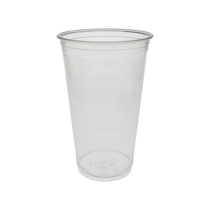 24 oz. Recycled Plastic Cold Cup, Clear, 720 ct.
