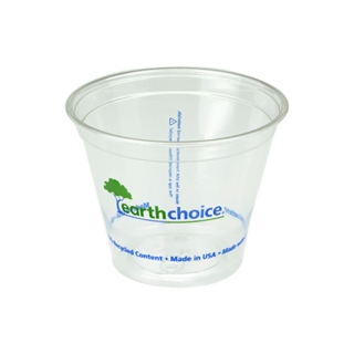 9 oz Recycled Plastic Clear Printed Cup, 975 ct.