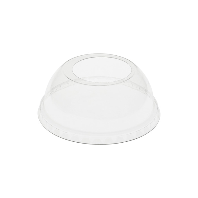 12oz Dome Lid with X Large Hole Clear, 900 ct.