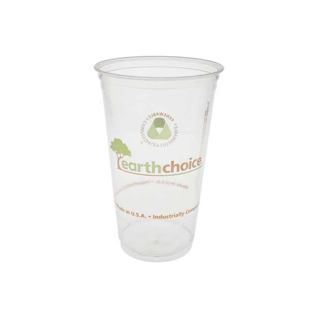 24oz Clr Prtd PLA Cup Earth Choice 10/58