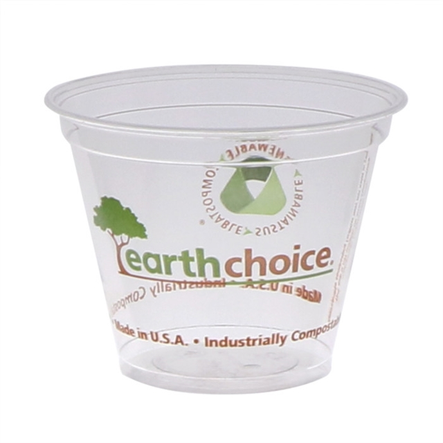 9oz Clr Prtd PLA Cup Earth Choice 15/65