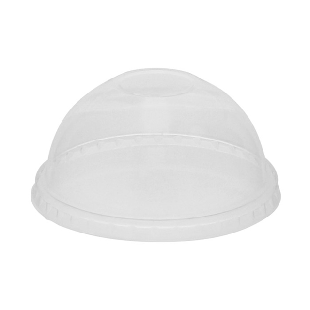 PLA CLR DOME LID NO HOLE FOR B CUP 12-75