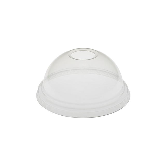 Natural PP Dome Lid w-Hole B Lid Series
