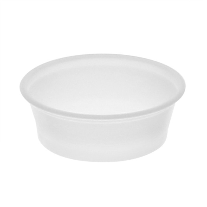 1.5 oz. Short Plastic Portion Cup, Translucent, 2,400 ct.