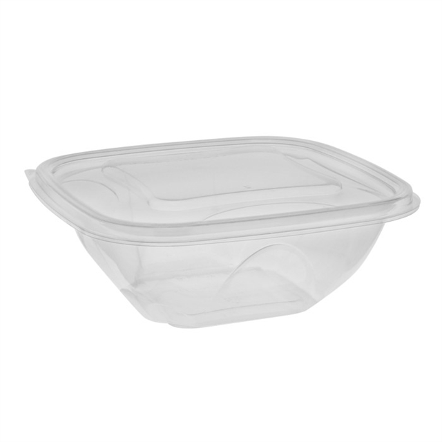 32 oz. clear salad bowl combo w/ foot