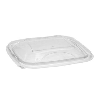 8-12-16 oz Clear Sq Bowl Dome Lid 5 X 5