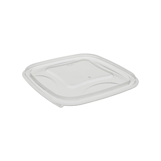 8-12-16oz 5x5 Clear Square Bowl Flat Lid