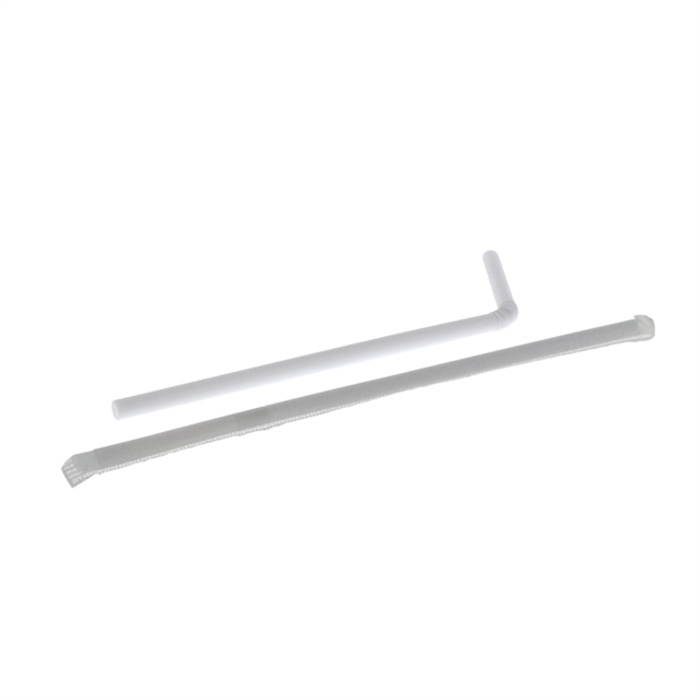 "7.625"" WRPD WHITE FLEX STRAWS 24/400BX"