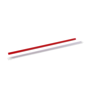 "10.25"" Giant Straw Wrapped Red, 1800 ct."