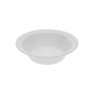 4/5 oz. Round Non-Laminated Foam Bowl, White, 1,250 ct.
