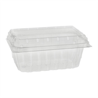 1LB APET HINGED BERRY BASKET 344/CS