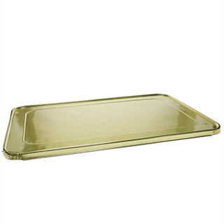 Full Size Steam Table Flat Foil Lid, Gold, 80 ct.